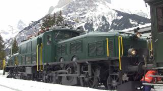 getlinkyoutube.com-[HD] Ce 6/8 III 14305--- An die Belle Epoque Kandersteg--- 22.01.2012