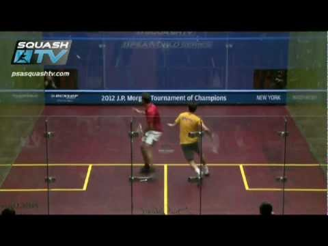 J.P. Morgan Tournament of Champions 2012 - Shabana survives scare