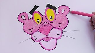 getlinkyoutube.com-Dibujando Rostro de Pantera Rosa - Drawing Face of Pink Panther