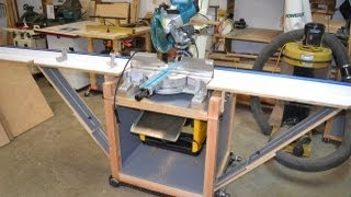 getlinkyoutube.com-Miter Saw Stand/Planer Station With Rotating Top