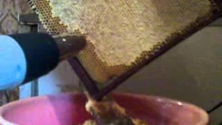 getlinkyoutube.com-Распечатывание медовых рамок монтажным феном