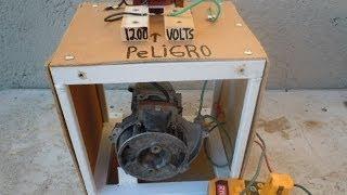 Como hacer electricidad gratis hasta 1200 volts tutorial