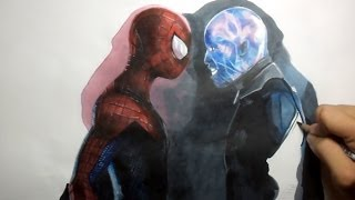 getlinkyoutube.com-The Amazing Spider-man 2 Drawing:  Spider-man and Electro