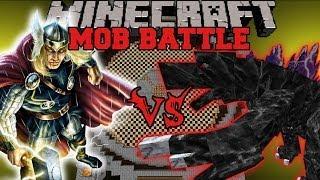 getlinkyoutube.com-MOBZILLA VS THOR - Minecraft Mod Battle - Mob Battles - Superheroes Unlimited and OreSpawn Mods