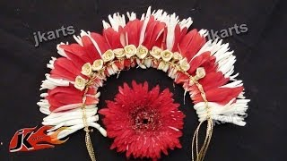 getlinkyoutube.com-DIY Gajra / Veni / Flower Garland for Indian Wedding | How to make | JK Arts 185