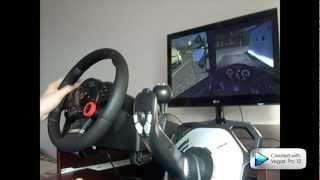 getlinkyoutube.com-Euro Truck Simulator 2 + Logitech Drive Force GT