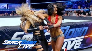 getlinkyoutube.com-Nikki Bella vs. Natalya - Falls Count Anywhere Match: SmackDown LIVE, Feb. 21, 2017