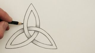 getlinkyoutube.com-How to Draw a Celtic Knot: The Triquetra, Step by Step