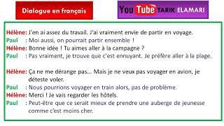 Dialogue en français Niveau A1 10