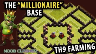 getlinkyoutube.com-Clash of Clan | Best Town Hall 9 (TH9) Farming Base 2015 | Protect Dark+Gold+Elixir