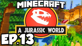 Jurassic World: Minecraft Modded Survival Ep.13 - OUR FIRST DINOSAUR!!! (Rexxit Modpack)