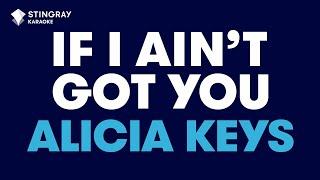 getlinkyoutube.com-If I Ain't Got You in the style of Alicia Keys karaoke video with lyrics no lead vocal