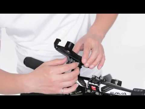 Rotatable  Smartphone MTB Bike Mount Holder Stem Handlebar Installation and Test