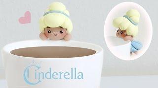 getlinkyoutube.com-DIY Disney's Cinderella Polymer Clay Cup Companion