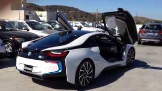 getlinkyoutube.com-NEW BMW i8 WALK AROUND CRYSTAL WHITE PEARL METALLIC WITH DALBERGIA BROWN INTERIOR