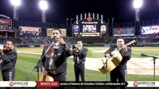 Himno de Estados Unidos con el Mariachi Monumental de Mexico en Chicago White Sox