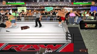 getlinkyoutube.com-Wrestling Revolution: Seth Rollins vs Brock Lesnar vs John Cena