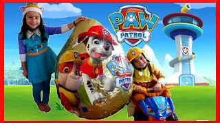 getlinkyoutube.com-PAW PATROL TOYS Nickelodeon GIANT EGG SURPRISE OPENING Paw Patrol Power Wheels Kids Video
