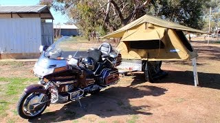 getlinkyoutube.com-GOLDWING MOTORCYCLE CAMPER TRAILER