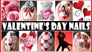 getlinkyoutube.com-VALENTINE'S DAY NAIL ART DESIGNS - LOVE IS IN THE AIR NAIL TUTORIAL FREEHAND STEP BY STEP VDAY