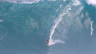 getlinkyoutube.com-Big Wave Paddle Tow Ski Surfing Jaws Peahi Maui SONY 4K