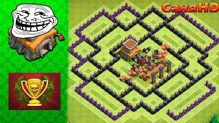 getlinkyoutube.com-Тролль база для 8Тх - Фарм кубков! Clash of Clans