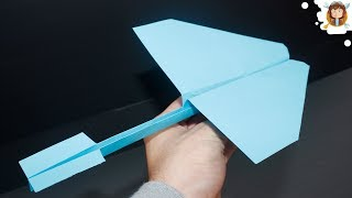 getlinkyoutube.com-How to make a Paper Airplane that flies Far