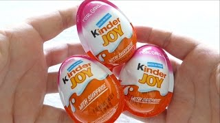 getlinkyoutube.com-Kinder JOY Surprise Eggs for GIRLS