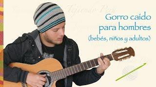 getlinkyoutube.com-Gorro caído para hombres (bebés, niños y adultos) tejido a crochet / Men´s crochet slouchy beanie
