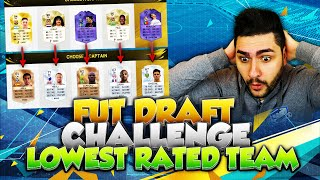 THE HARDEST FUT DRAFT IN FIFA16 -CHALLENGE- LOWEST RATED SQUAD IN THE FUT DRAFT + CRAZY PACK LUCK :D