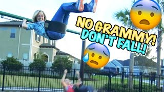 getlinkyoutube.com-😱 WILL SHE FALL OFF?!?! 😜 HANG ON TIGHT GRAMMY! 😳