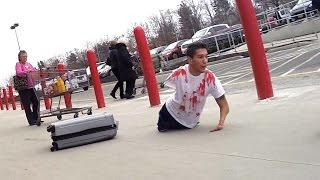 getlinkyoutube.com-Bloody Body in Suitcase Prank - Best Public Pranks
