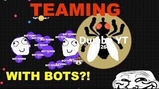 TEAMING - WITH BOTS?!  [AGAR.IO]