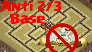 getlinkyoutube.com-NEW ANTI 2/3 STAR INVINCIBLE TH10 WAR BASE - OMEGA CoC (Full HD)