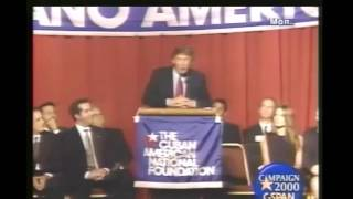 Donald Trump speaks at the Cuban American National Foundation (11/15/1999)