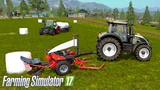 getlinkyoutube.com-Farming Simulator 17 - WRAPPING & STACKING BALES! (Ursus Z-586 & T-127, With Commentary)
