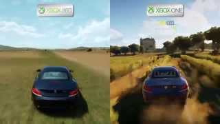 getlinkyoutube.com-Forza Horizon 2 - Xbox 360 vs Xbox One - Map Comparison