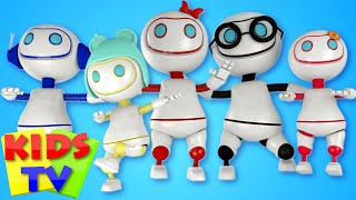 getlinkyoutube.com-Robot Finger Family | Nursery Rhymes | Kids Song | Children Rhymes