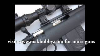 getlinkyoutube.com-Crazy High Power Airsoft Sniper Rifle (Shell Ejecting) APS APM50
