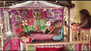 getlinkyoutube.com-Decorating American Girl Doll House for Christmas