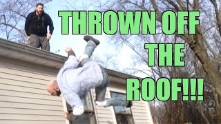 getlinkyoutube.com-THROWN OFF ROOF! Crazy Backyard Wrestling Match Grim vs MailMan