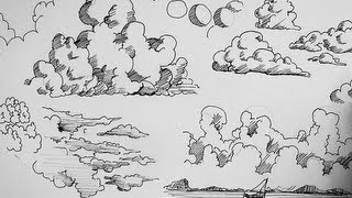 getlinkyoutube.com-Pen and Ink Drawing Tutorials | How to draw clouds