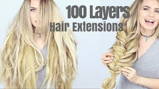 getlinkyoutube.com-100 Layers of Hair Extensions