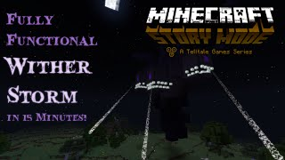 getlinkyoutube.com-Minecraft: Story Mode - Beef's Build Contest - Functional Wither Storm (w/ World Download)