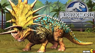 getlinkyoutube.com-Jurassic World The Game -  Triceratops Max Level TYRANNO DINOSAURS  Vs  Legendary Dinosaurs