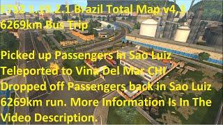 getlinkyoutube.com-ETS2 1.19.2.1 Brazil Total Map v4.3 6269km Bus Trip
