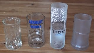 getlinkyoutube.com-How to make a recycled drinking glass from a vodka bottle