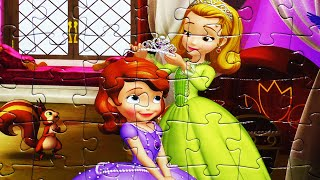 getlinkyoutube.com-SOFIA THE FIRST Disney Puzzle Games Rompecabezas de Princess Sofia JR Games  Kids Learning Toys