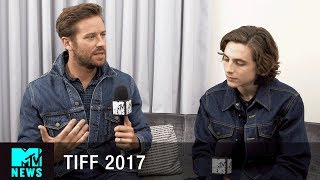Timothée Chalamet & Armie Hammer on the Sex Scene In 'Call Me By Your Name' | #TIFF17 | MTV News