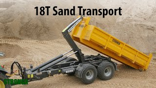Stronga HookLoada 180 trailer - Heavy-duty sand transport